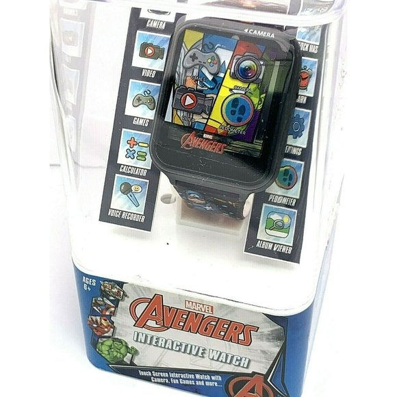 Avengers Interactive Kids Smart Watch Black 41mm